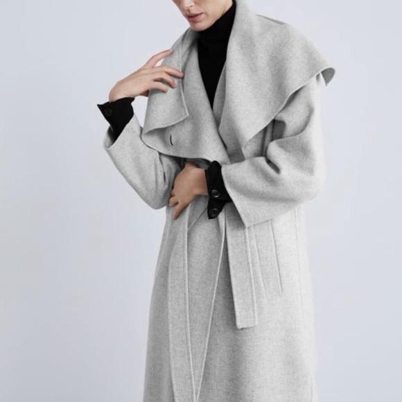 Zara Jackets & Blazers - Zara wool waterfall coat